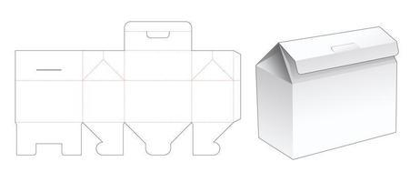 embalagem dobrável em forma de casa vetor