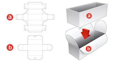 caixa de embalagem e capa embrulhada vetor