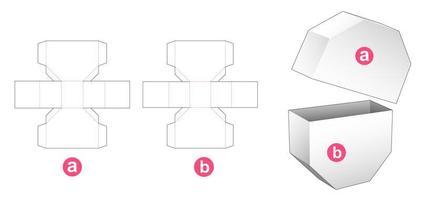 Caixa octogonal de 2 peças vetor