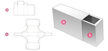 caixa de gaveta e tampa vetor
