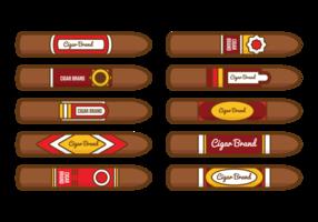 Vetor de etiqueta de cigarro