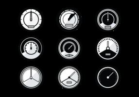 Ícones do vetor Tacômetro