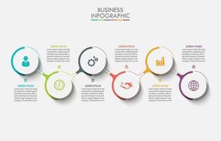 infográfico de círculo colorido moderno conectado vetor