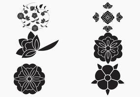Flor simples de fundo vector
