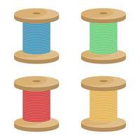 bobina de linha isolada vetor