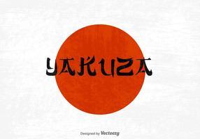 Vector de letras Yakuza grátis