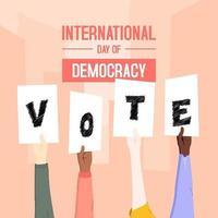 design de cartaz de votação do dia da democracia vetor