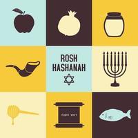 conjunto de ícones de Rosh Hashaná vetor