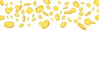 explosão de moedas de ouro vetor