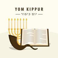 design de pôster simples do yom kippur vetor