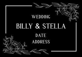 Cartão de casamento vetor