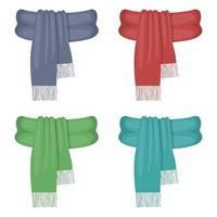conjunto de lenço de inverno vetor