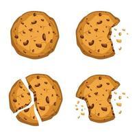 conjunto de biscoitos saborosos vetor
