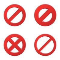 conjunto de sinais proibitivos vetor