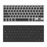 dois teclados de desktop isolados vetor