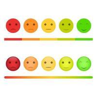 conjunto de rosto de feedback do cliente vetor