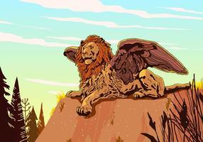 Vetor voado do leão