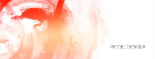 banner abstrato macio de aquarela vetor