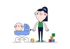 Livre vetor Mãe e Criança