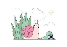Vetor de caracol grátis