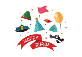 Vetores felizes de Purim