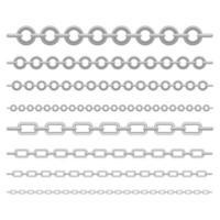 conjunto de correntes metálicas vetor