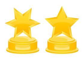 prêmio de vencedor de ouro vetor