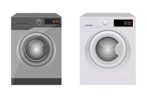 máquina de lavar roupa isolada vetor