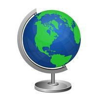 suporte do globo terrestre vetor