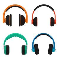 fones de ouvido isolados no branco vetor