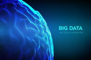 fundo abstrato de ciência de big data vetor