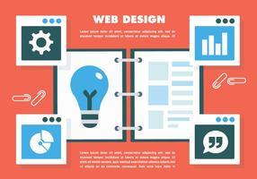 Vetor de web design gratuito