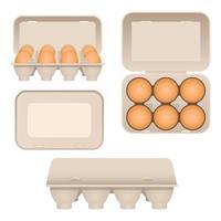 ovos de galinha em caixa