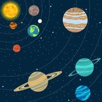 sistema solar e estrelas vetor