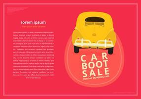 Modelos do poster da bota do carro vetor