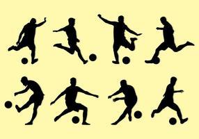 Silhouette Of Kickball Players vetor