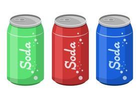 lata de refrigerante isolada vetor
