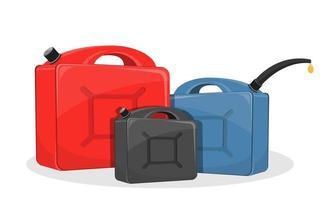 lata de gasolina isolada vetor