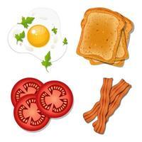 comida de café da manhã isolada vetor