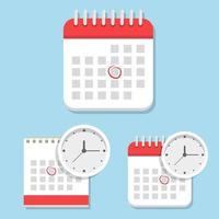 ícone de calendário isolado vetor