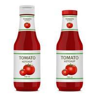 garrafa de ketchup isolada vetor