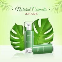 cosmético com produto para a pele
