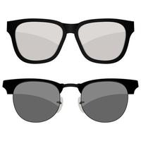 dois óculos de sol isolados vetor