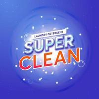 embalagem de sabão em pó para super clean vetor
