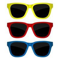 conjunto de óculos de sol isolado vetor