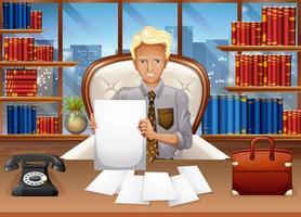 empresário separando arquivos vetor