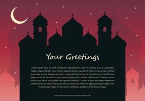 Modelo da saudação da noite Arabian vetor