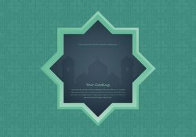 Mesquita da noite árabe com ilustração da janela