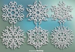Elegant Ornamentals Snowflakes - Vector set