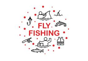 Vetores do ícone Fshing Fly